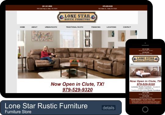Client Project - Lonestar Rustic Furniture - Houston Web